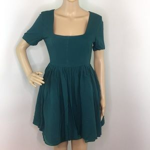 ASOS Emerald Green Fit & Flare